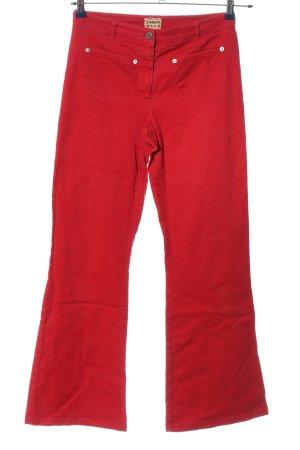 Casual W.E.A.R Pantalone a vita alta rosso stile casual