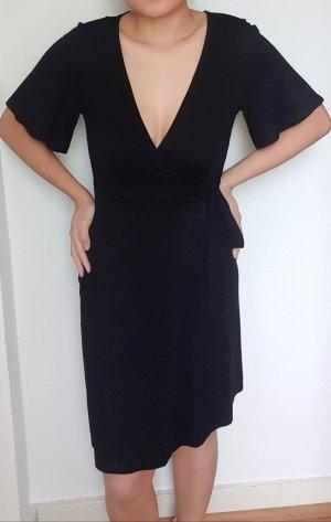 Primark Vestido cruzado negro