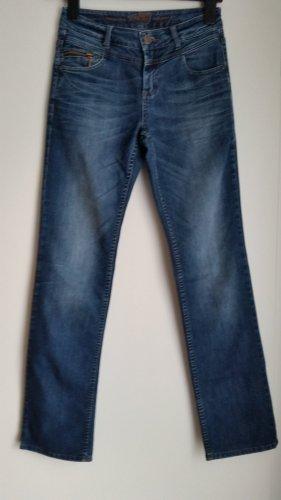 s.Oliver Jeansy z prostymi nogawkami niebieski neonowy-niebieski