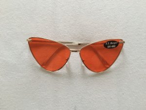 Asos Retro Glasses red-gold-colored