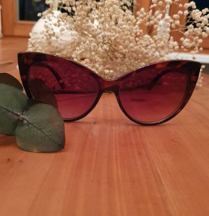 Owalne okulary przeciwsłoneczne brązowy