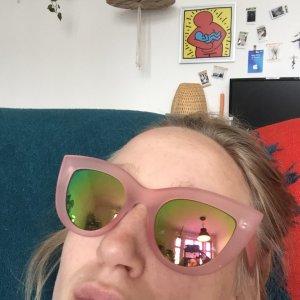 Cat Eye Sonnenbrille rosa Retrosonnenbrille Kauf dich Glücklich