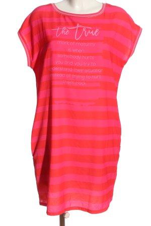 CAT NOIR T-shirt jurk rood-roze gedrukte letters casual uitstraling