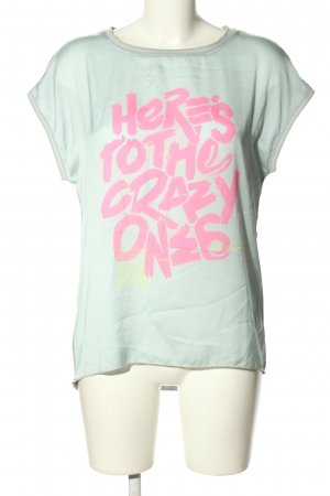 CAT NOIR T-Shirt light grey-pink printed lettering casual look