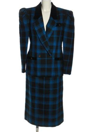 Catarina Gerhard Pabst Tailleur bleu-noir motif à carreaux style d'affaires