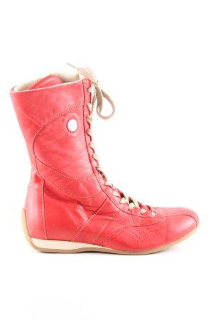 Catarina Martins Halfhoge laarzen rood-wolwit casual uitstraling