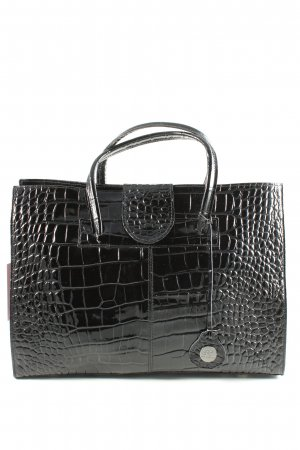 Cate Gray Handbag black animal pattern elegant