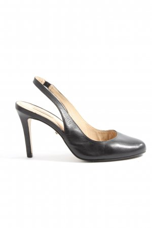 Cate Gray Slingback Pumps black business style