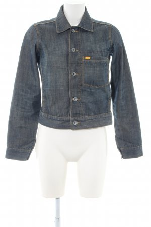 Caterpillar Denim Jacket blue weave pattern casual look