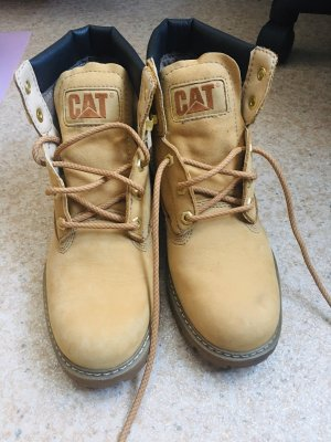Caterpillar Combat Boots gold-colored