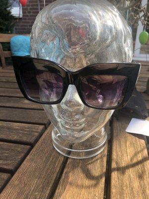 Gafas de sol cuadradas negro-color oro