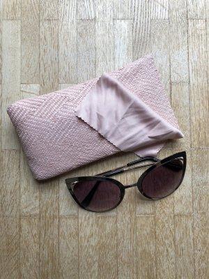 Cateye Sonnenbrille mit goldenem Rand
