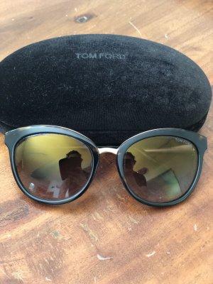 Tom Ford Gafas de sol redondas marrón oscuro-color oro