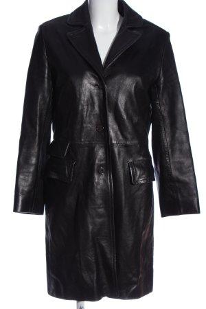 Catherine Khan Długi płaszcz czarny W stylu casual