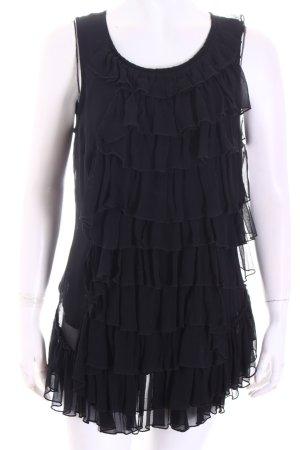 Cathrine Hammel ärmellose Bluse schwarz Elegant