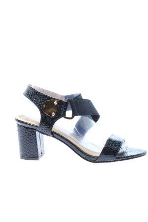 Catisa Riemchen-Sandaletten dunkelblau Animalmuster Casual-Look