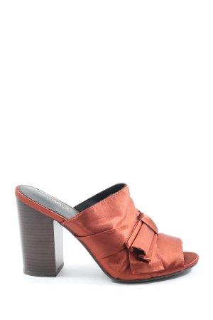 Catwalk Mule à talon orange clair style décontracté