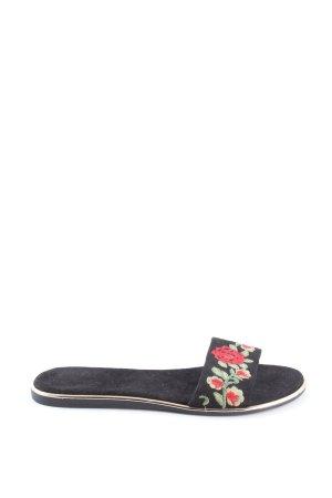 Catwalk Sandały z rzemykami Wzór w kwiaty W stylu casual