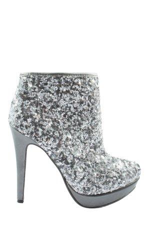 Catwalk Heel Boots silver-colored elegant