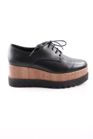 Catwalk Budapest schoenen zwart-bruin casual uitstraling