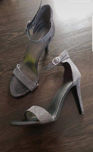 Catwalk Hoge hakken sandalen zilver-antraciet