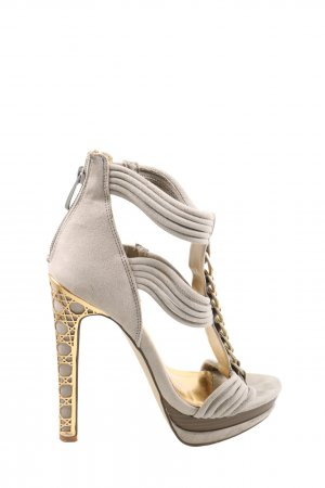 Catwalk High Heel Sandaletten hellgrau-goldfarben Elegant