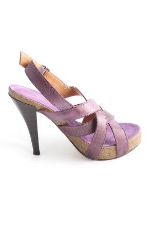 Catwalk High Heel Sandaletten lila Casual-Look