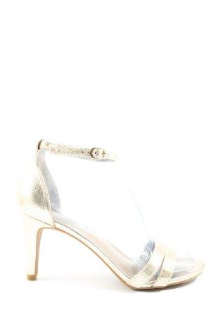 Catwalk Sandały na obcasie złoto Elegancki