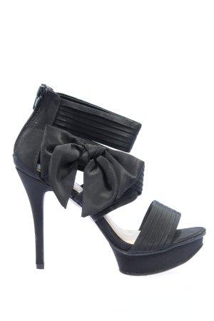Catwalk Sandały na obcasie czarny W stylu casual