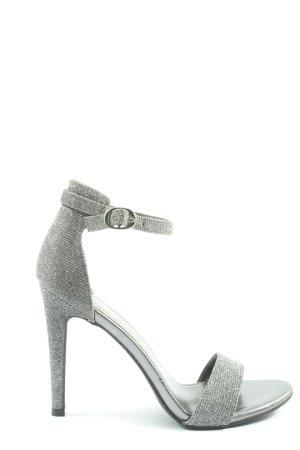 Catwalk High Heel Sandal silver-colored elegant