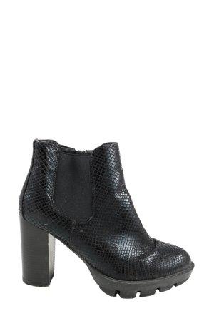 Catwalk Sandały na obcasie czarny Abstrakcyjny wzór W stylu casual