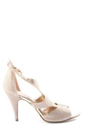 Catwalk Sandały na obcasie kremowy Elegancki