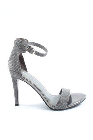 Catwalk Hoge hakken sandalen lichtgrijs gestippeld elegant