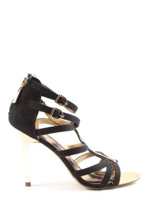 Catwalk Hoge hakken sandalen zwart-goud elegant