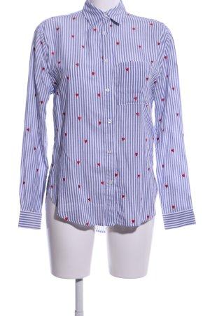 CATWALK JUNKIE Hemd-Bluse blau Motivdruck Business-Look