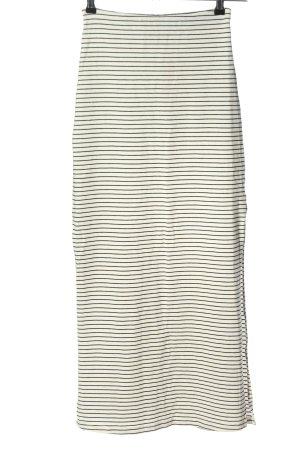 CATWALK JUNKIE Falda larga blanco-negro estampado a rayas look casual