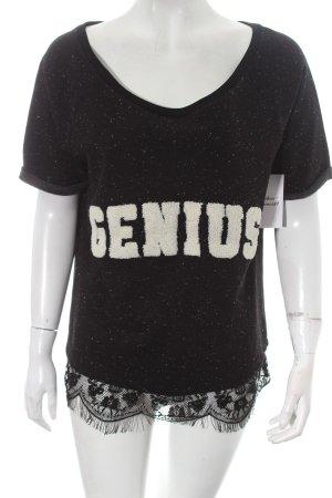 Catwalk Junkie Sweatshirt schwarz-weiß Farbtupfermuster Casual-Look
