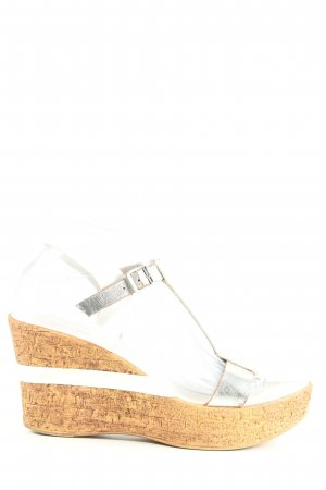 Catwalk Wedge Pumps silver-colored casual look