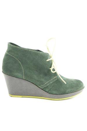 Catwalk Keil-Stiefeletten waldgrün-wiesengrün Casual-Look