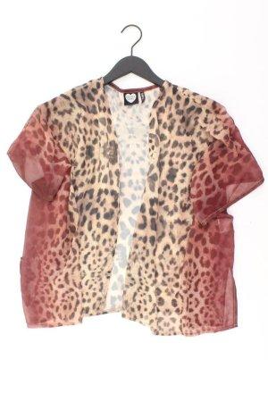 Catwalk Kimono Cardigan Größe S mit Tierdruck Kurzarm braun