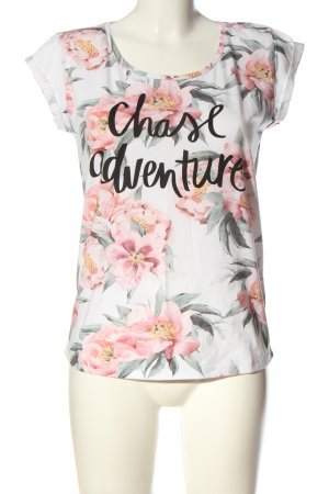 Catwalk Short Sleeved Blouse allover print casual look
