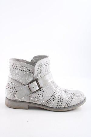 Catwalk Botte courte argenté-gris clair style décontracté