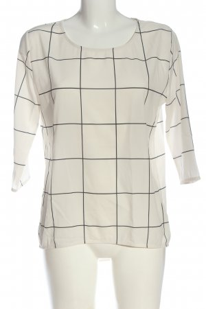 Catwalk Long Sleeve Blouse white-black allover print casual look