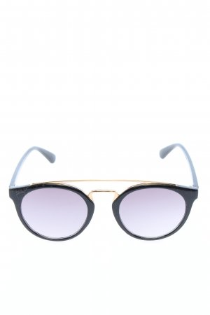 Catwalk Gafas panto negro-color oro estilo «business»