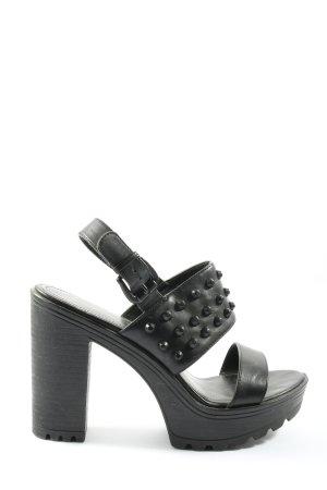 Catwalk Tacones con punta abierta negro estilo extravagante