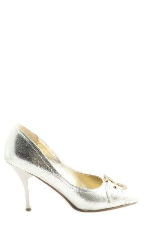 Catwalk Peep Toe Pumps zilver zakelijke stijl