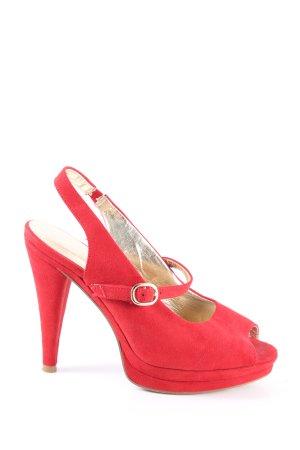 Catwalk Escarpins à bout ouvert rouge élégant