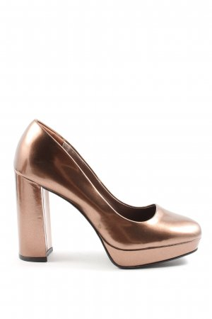 Catwalk Plateau-Pumps goldfarben Elegant