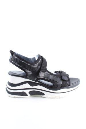 Catwalk Sandalias con plataforma negro look casual