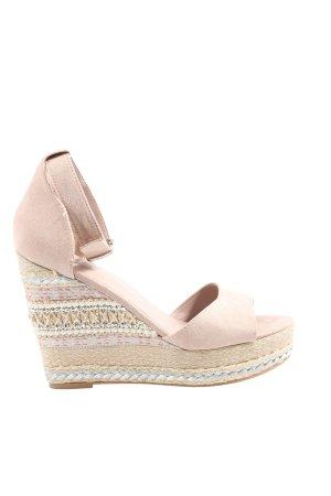 Catwalk Sandały na platformie różowy W stylu casual